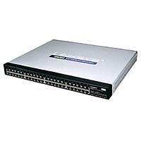 Linksys 48-port 10/100/1000 + 4 shared mini-Gigabit Switch with WebView SRW2048 Commutateur 48 Ports