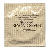 36 Beyond Seven Studded Sheerlon Latex Condoms, Ribbed Sensation, Lightly Lubricated