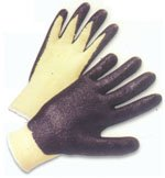 Nitrile Coated Kevlar String Knit with Black Palm, Sold by Dozen - X-Large