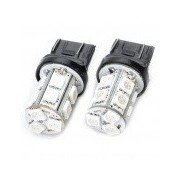 T20 2.6W 130LM 13x5050 SMD LED Car Red Light Bulbs - Pair (DC 12V)
