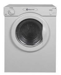 White Knight WK38AW compact reverse action tumble dryer, 3kg capacity, 2 heat settings, white