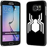 Spider Man Logo Samsung Galaxy S6 Case Black Rubber FI