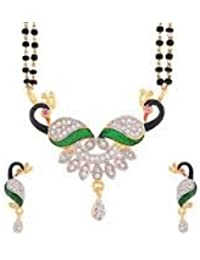 Cardinal American Diamond Mangalsutra Set/Pendant Set With Earring For Women/Girls