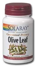 Solaray - Olive Leaf Extract, 250 Mg, 60 Capsules