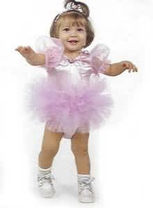 Deluxe Beautiful Baby Ballerina Costume with Headband