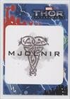 Mjolnir (over tan ironwork) (Trading Card) 2013 Upper Deck Thor: The Dark World Stickers #T2-24