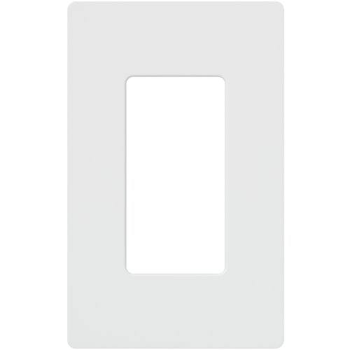 Lutron CW-1-WH 1-Gang Claro Wall Plate, White