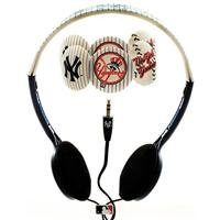 Mlb New York Yankees Over The Head Headphones With Detachable Graphic Discs