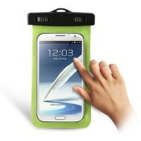 Universal Pvc Waterproof Bag With Headphone Jack For Iphone/Ipod/ Samsung/Htc Mobile Phone/Mp3/Mp4 - Green (Size: 173*100Mm)
