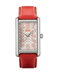 Coach Ladies Lexington Elongated Coral Watch 14600969