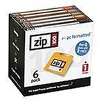 Iomega Zip 100 MB PC Formatted Disks (6 pack)