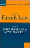 img - for A Reader on Family Law (Oxford Readings in Socio-legal Studies) book / textbook / text book