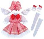 キャラリートキッズ きらきら羽のピンクドレス