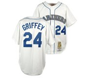 Seattle Mariners Ken Griffey #24 Throwback Jersey (Adult Large)