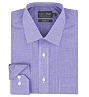 Cotton Rich Non-Iron Checked Shirt