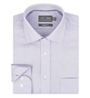 Performance Non-Iron Pure Cotton Textured Shirt