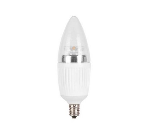 Globe Electric 01804 5.1Watt Led For Life B Type Dimmable With Led Candelabra Base Chandelier Light Bulb And 25-Watt Equivalent, Soft White