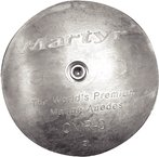 Martyr Anodes CMR01AL Rudder/Trim Tab Anode With Stainless Steel Allen Head, Aluminum