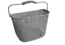 MTS Basket with Bracket Silver, Front Quick Release Basket, Removable, Wire Mesh Bicycle basket