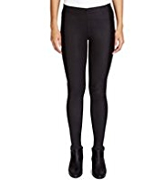 Limited Edition Faux Leather Panel Leggings
