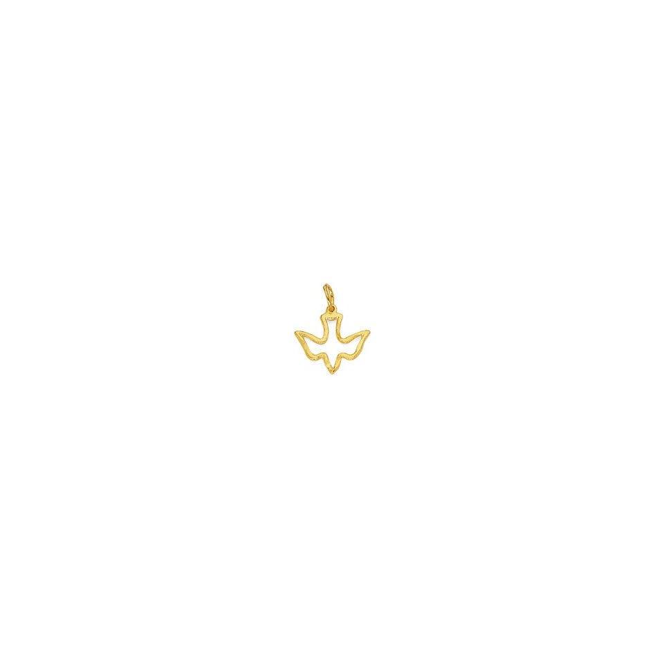 14K Gold Holy Spirit Dove Pendant