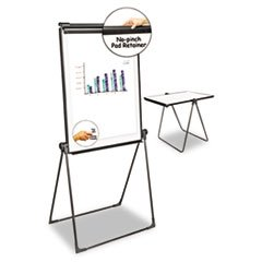 * Foldable Double Sided Dry Erase Easel, 28.5 x 37.5, White/Black