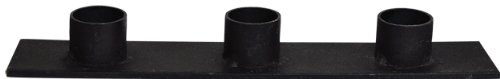 Distressed Black Iron Strap Triple Taper Cup Candle Holder Primitive Country Décor