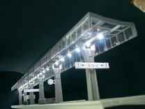 72083 Bahnsteigbeleuchtung mit 4 gelbe LEDs