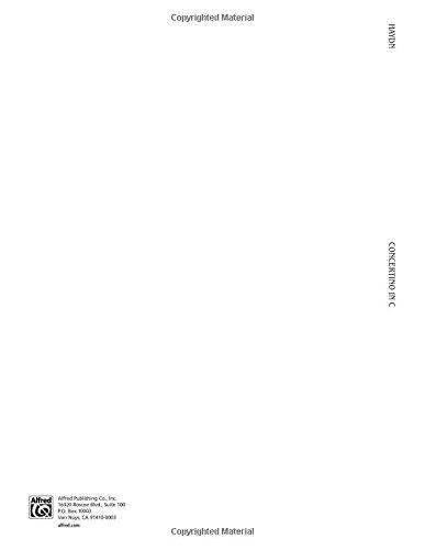 Concertino in C Major (Kalmus Edition)