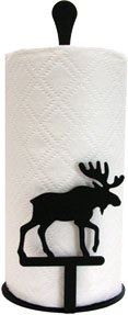 Village Wrought Iron Moose Paper Towel Stand