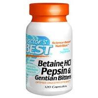 Doctors Best Betaine HCL Pepsin & Gentian Bitters