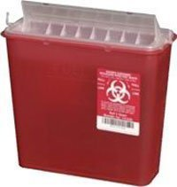 PT# 141020 Container Sharps Disposal System Red 5qt 20/Ca by, Plasti-Products Inc