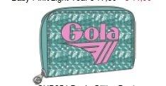 PORTAFOGLIO GOLA GLITTER DUST BABY PUNK/LIGHT TEAL