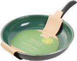 Gibson 62411.01 Home Hummington Eco-Friendly 12-Inch Ceramic Non Stick Open Fry Pan, Multi-Size, Green