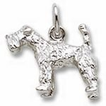 Rembrandt Charms Kerry Blue Terrier Charm - Gold Plated