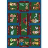 "Joy Carpets Kid Essentials Music & Special Needs Signs On The Farm Rug, Multicolored, 5'4"" x 7'8"""