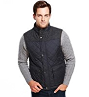 Blue Harbour Slim Fit Quilted & Panelled Gilet