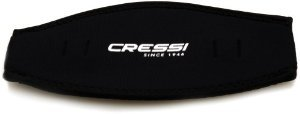 Cressi Neoprene Mask Strap (Black)