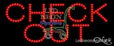 Check Out LED Sign 11 inch tall x 27 inch wide x 3.5 inch deep outdoor only w...