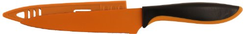 Hampton Forge Splash Utility Knife with Blade Guard, 5-Inch, Orange, HMC01A600S (Forge Spoon compare prices)