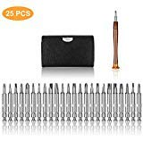 25 in 1 Professional Screwdriver Set, Precision Magnetic Screwdriver, YourFun Repair Tool Kits with Leather Bag for iPhone, Eyeglasses, Tablets, PC, E