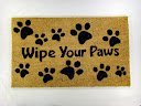 Kempf Wipe Your Paws Coco Doormat, Rubber Backed, 18 by 30 by 0.5-Inch from William F. Kempf & Son Inc.
