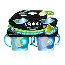 Tommee Tippee 2-Pack Explora Truly Spill Proof Trainer Cup 9Oz - 6Months And Up (Purple & Pink) front-486249