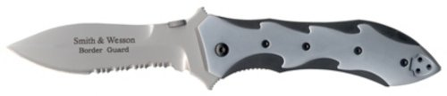 Border Guard, Black & Silver Aluminum Handle, ComboEdge (Smith And Wesson Knife Sharpener compare prices)