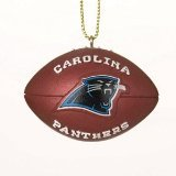 "Carolina Panthers 1.75"" Resin Football Christmas Ornament - NFL Football"
