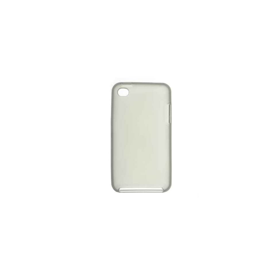 Smoke Tinted Crystal Tpu Skin Gel Cover Case for Apple Ipod Touch Itouch 4 4th Gen + Microfiber Pouch Bag