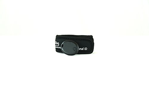 My Buddy Tag with Velcro Wristband, Black