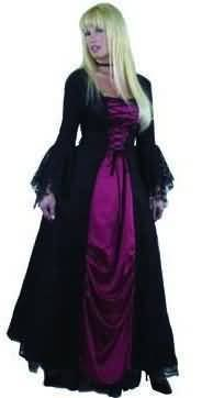 Women Size X-Small (3-5) - Gothic Vampira Costume (Note - Running small in particularly in arms)