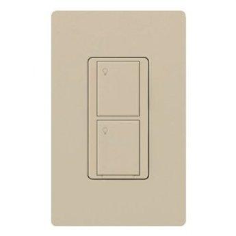 Lutron PD-5WS-DV-LA Light Switch, Caseta Wireless 5A Lighting & 3A Fan RF On/Off - Light Almond