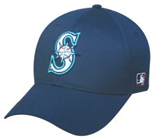 MLB ADULT Seattle MARINERS Navy Blue Hat Cap Adjustable Velcro TWILL